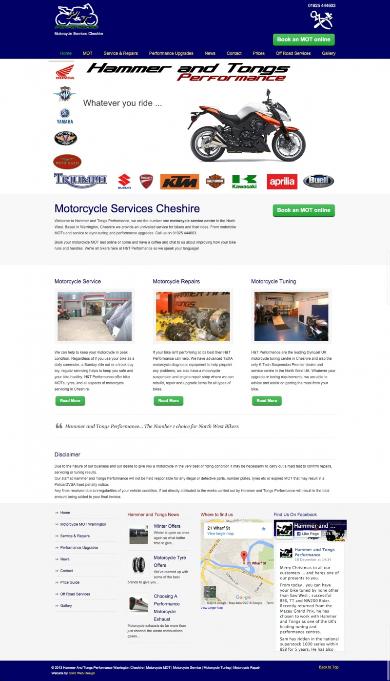 web designs for motorcycle business