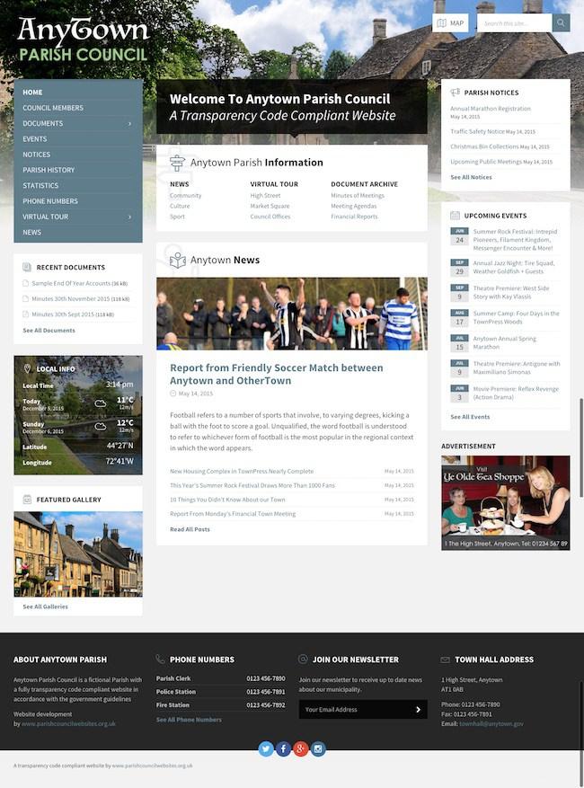 web designs for parish councils