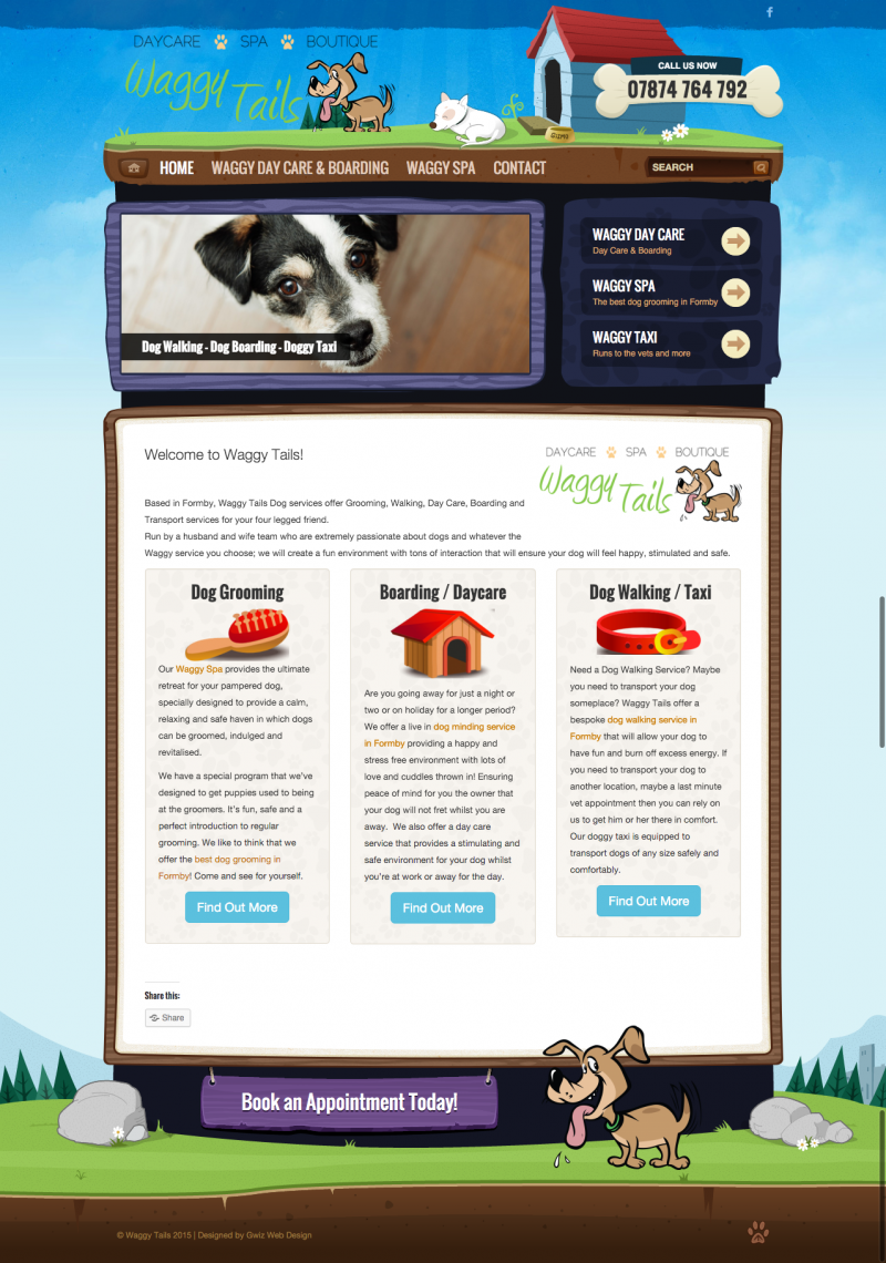 web design for pet groomer