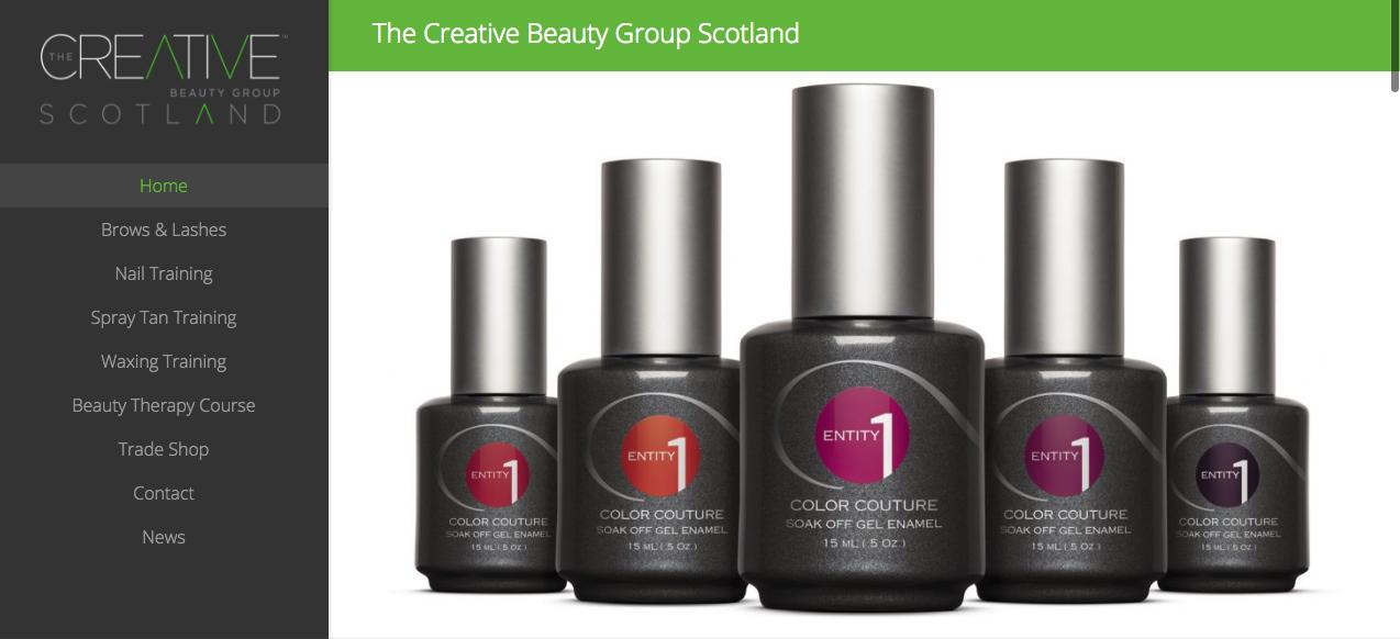 Web Design For Beauty Training