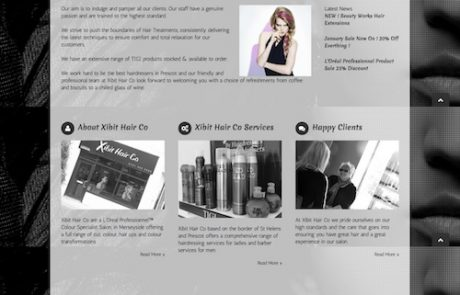 Web Design For Hair Salon