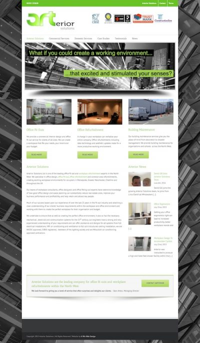 web design for office fit out company