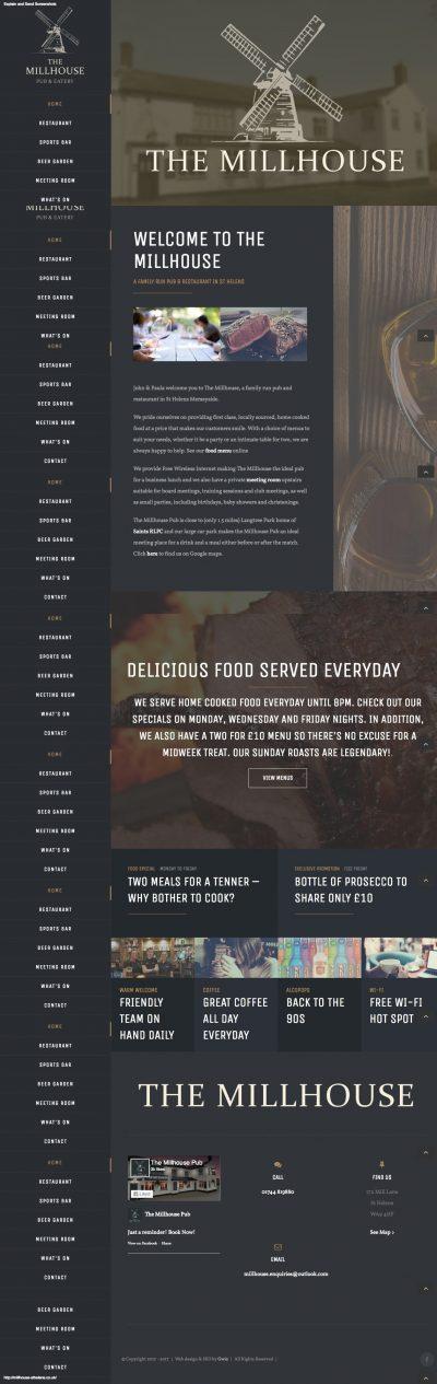 web design for pub in St Helens