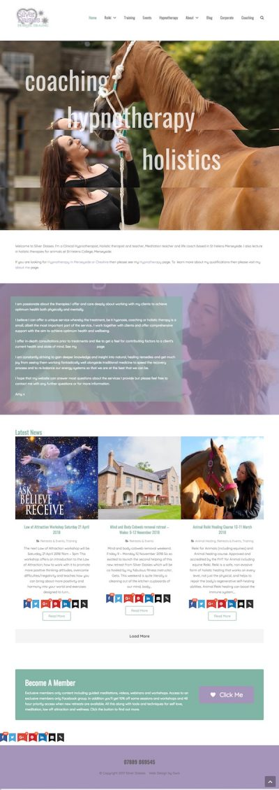 Web Design For St Helens Therapist