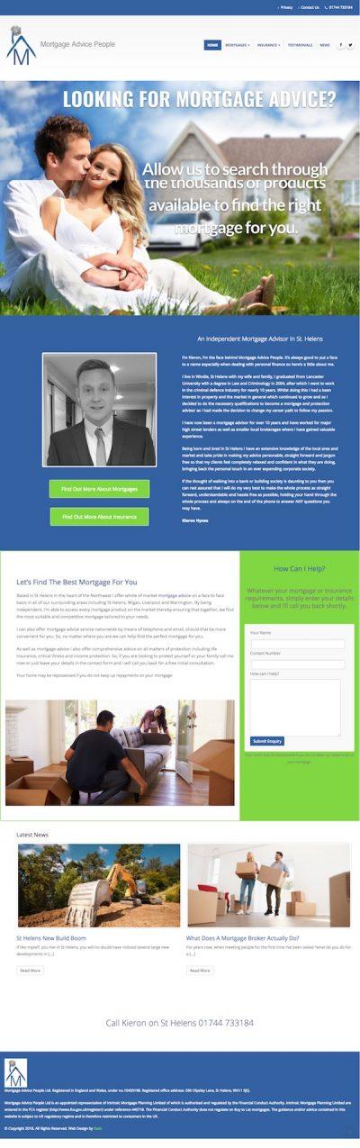 Web design for mortgage advisor St Helens