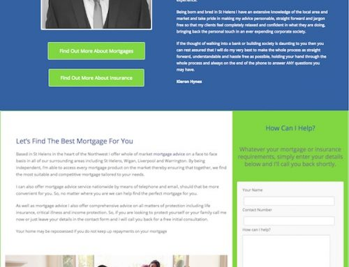 Website Redesign For A Mortgage Advisor In St Helens